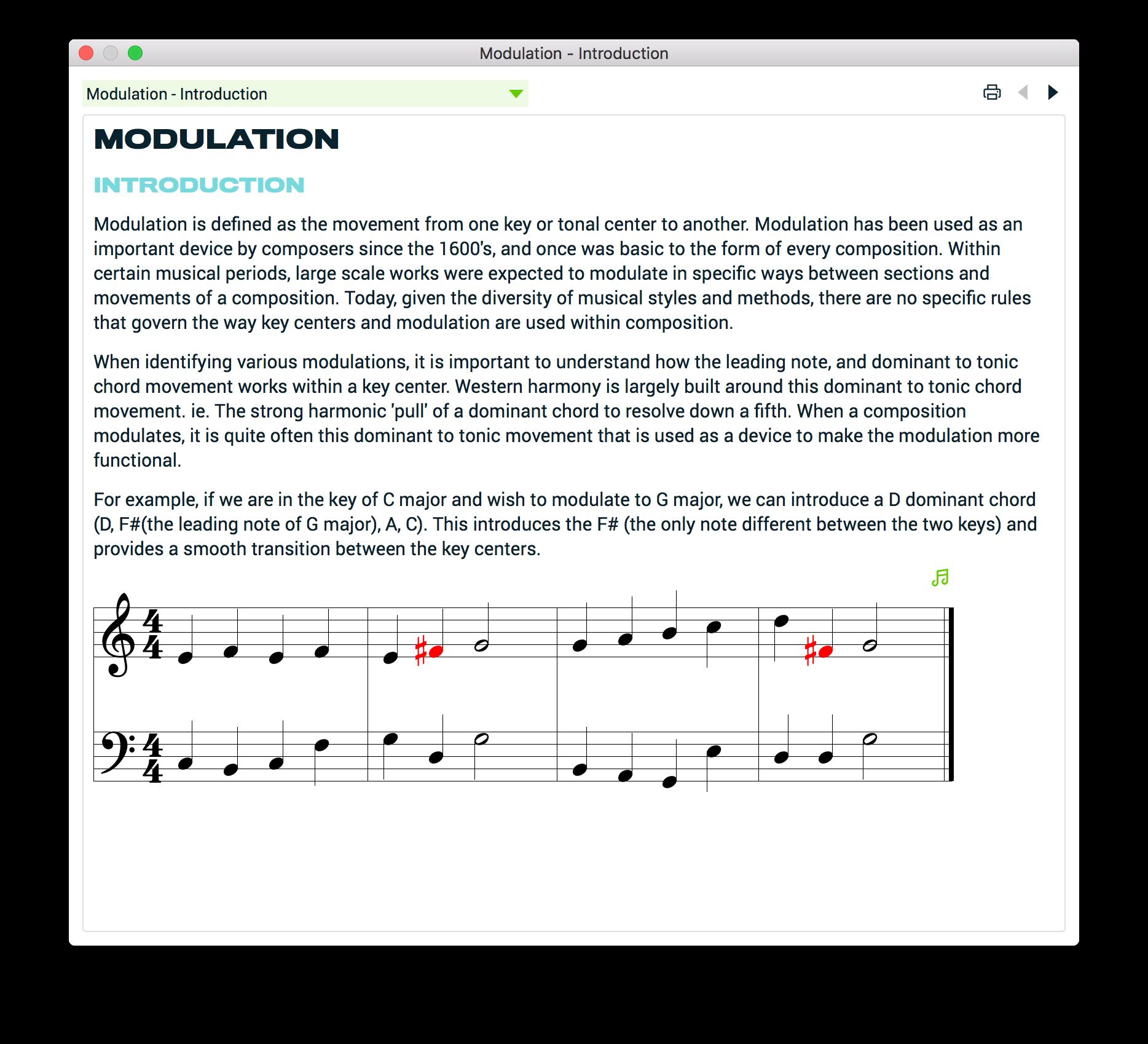 Lesson - Modulation